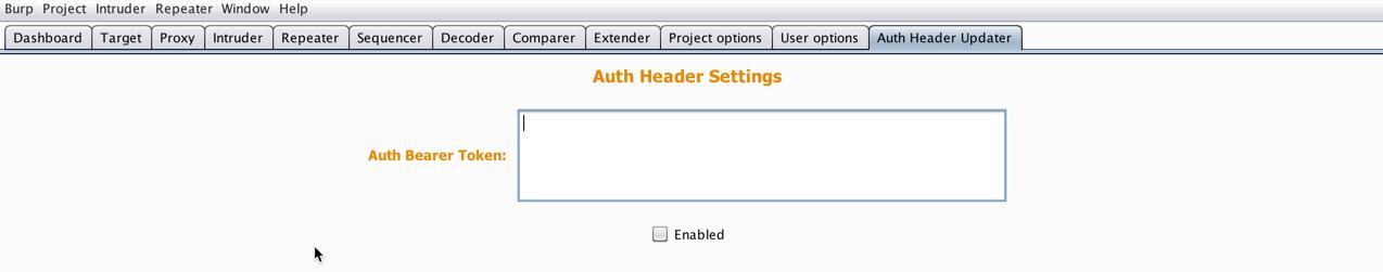 Auth Header Updater